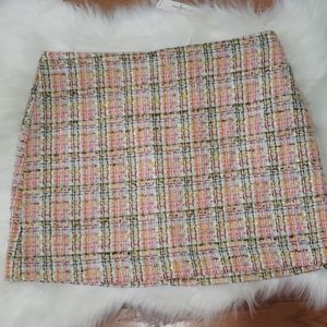 Trina Turk tweed mini skirt